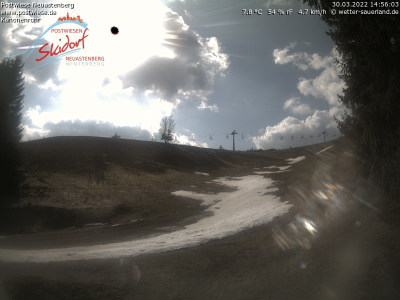 Webcam Skigebied Neuastenberg - Postwiese Kanonenrohr - Sauerland