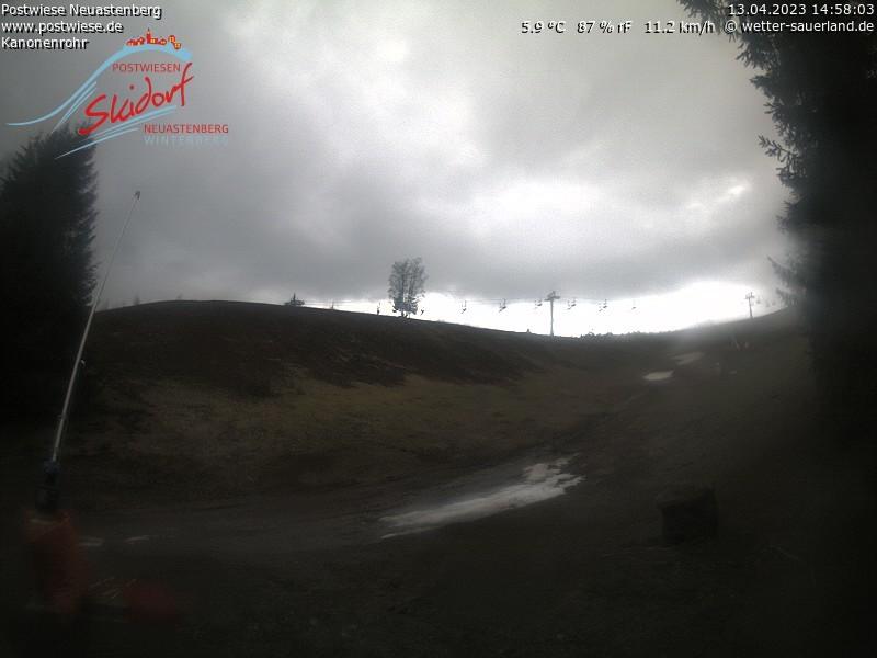 Webcam Skigebiet Neuastenberg - Postwiese Kanonenrohr - Sauerland