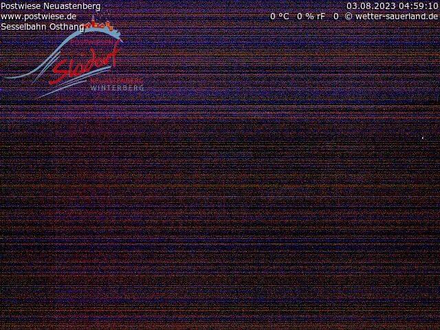 Webcam Skidorf Neuastenberg - Postwiese - Osthang Sesselbahn