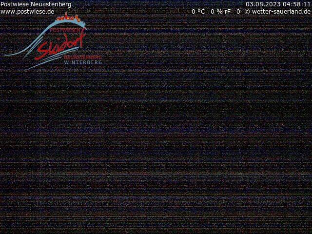 Webcam Skidorf Neuastenberg - Postwiese - Osthang Sesselbahn Tele